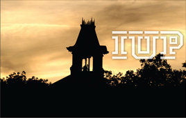 IUP old sutton bell tower logo