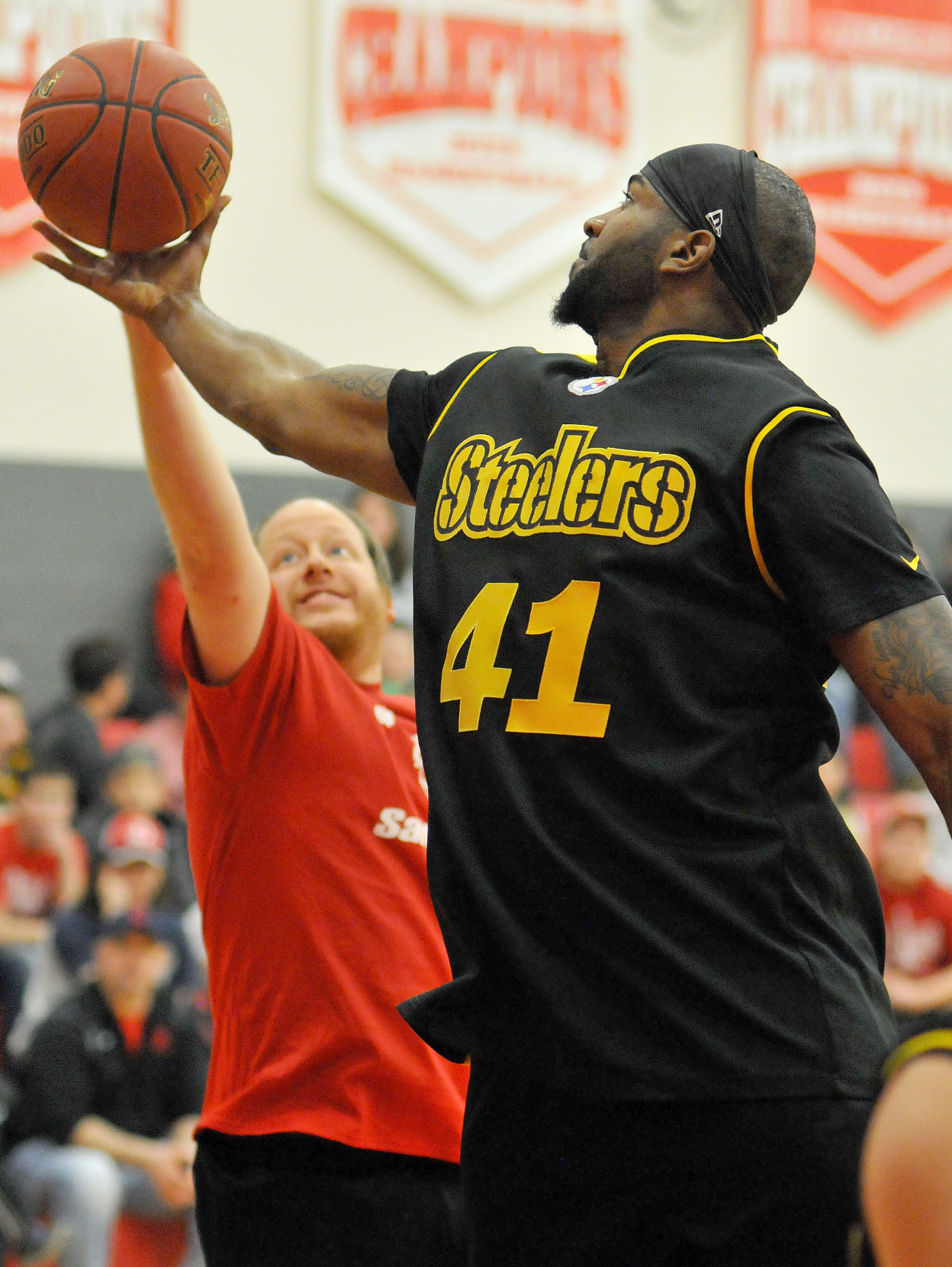 Saltsburg faculty takes on pittsburgh steelers in charity basketball jpg  1200x1597 Pittsburgh steelers basketball team 2d5d0fece