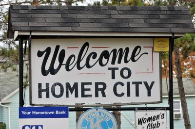 homer city welcome sign
