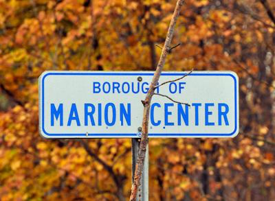 marion center borough sign