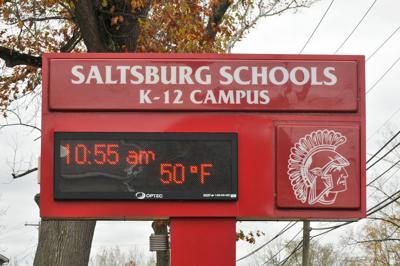 saltsburg high school sign