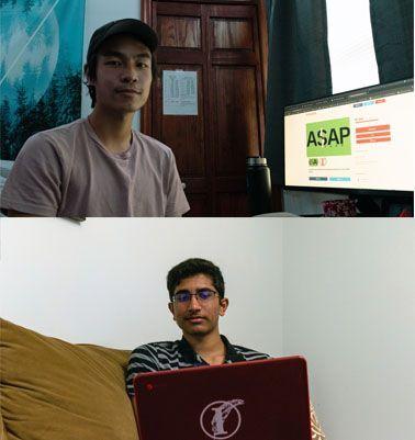 Seniors Jason Zheng and Hasan Ali