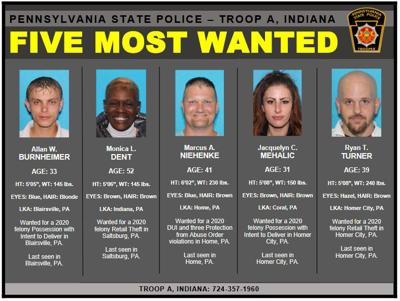 Indiana County 5 Most Wanted