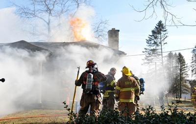 blaze that swept through a one-and-a-half-story house along Nowrytown Road