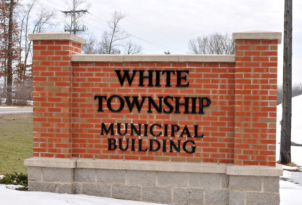 white township bldg sign