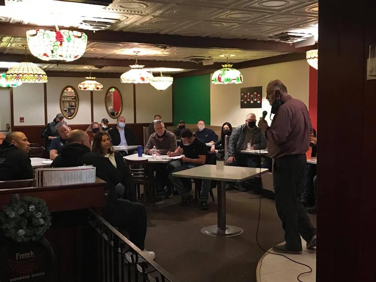 Business owners gathered Monday at Bruno's in Indiana.