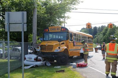 Collision with bus