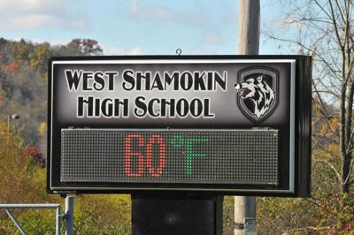 West Shamokin high school sign