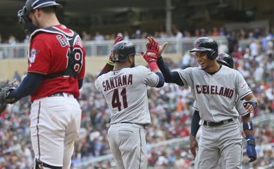 Indians Twins Baseball
