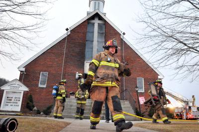 Harmony Grove Church fire