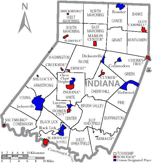 Indiana County map 01