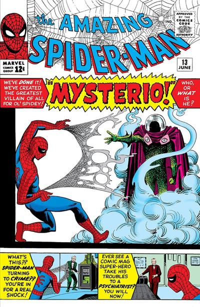 """Mysterio's first appearance, in 1964's """"Amazing Spider-Man"""""""
