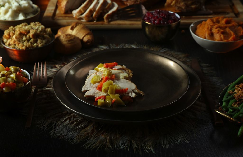 Giardiniera, the Italian mix of pickled vegetables and chiles