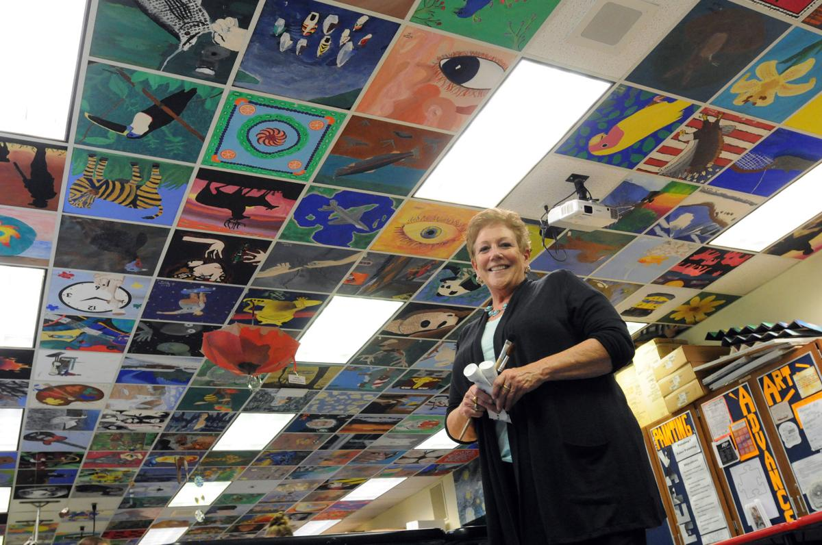 Art Teacher Remembers Students Through Painted Ceiling Tiles News