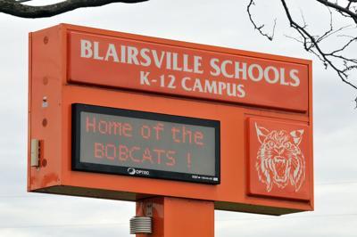 Blairsville High School sign