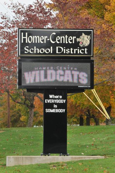 Homer Center schools sign 01
