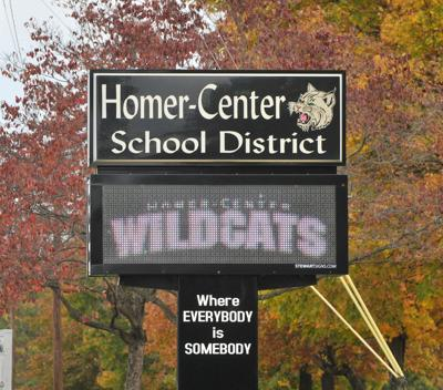Homer Center schools sign 02