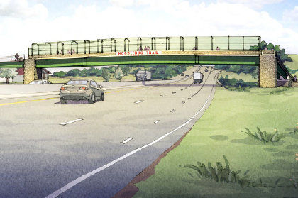 Route 22 pedestrian bridge plan