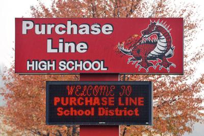 Purchase Line High School sign