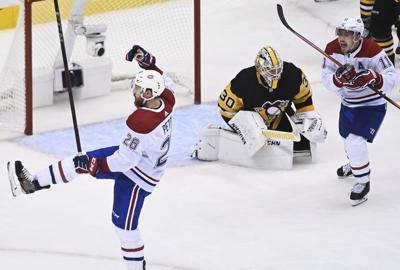 APTOPIX Canadiens Penguins Hockey