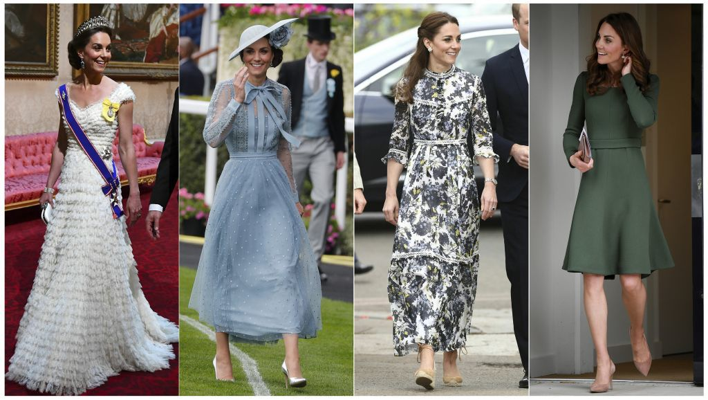 This combination photo shows Britain's Kate, the Duchess of Cambridge