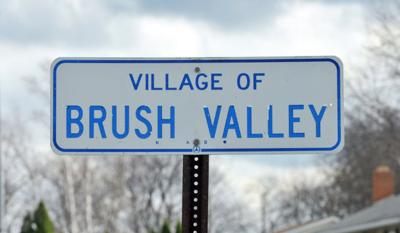 brush valley road sign