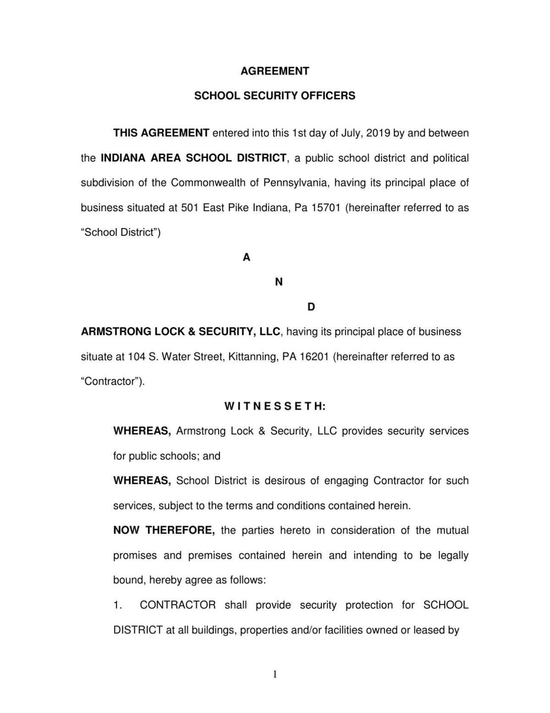 Armstrong Security - IASD contract