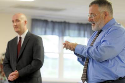 Matthew Trosan, left, and John P. Pulcastro