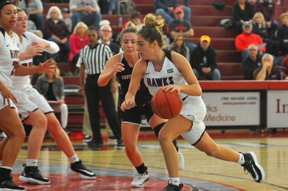 Gazette Photo Gallery: Hawks women dominate in season opener