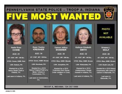 five most wanted suspects