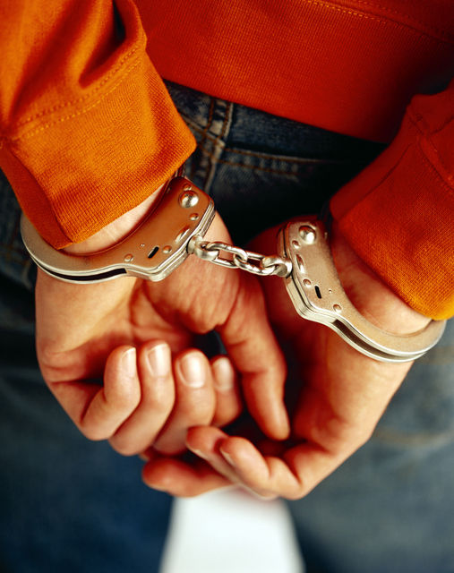 Police arrest suspect handcuffs 06