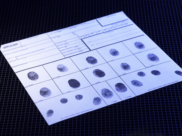 Police crime fingerprints 08