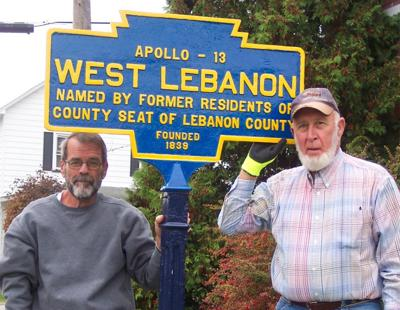 newly reinstalled West Lebanon Keystone Marker