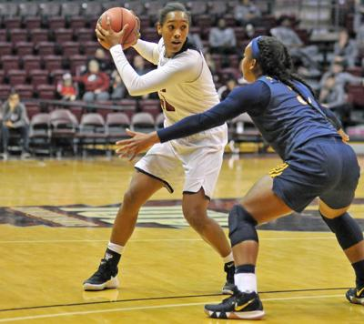 Lexi Griggs, one of IUP's two returning starters