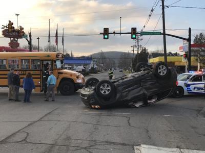 Bus-car crash