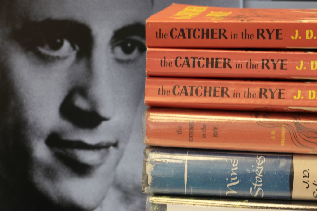 """copies of J.D. Salinger's classic novel """"The Catcher in the Rye"""""""