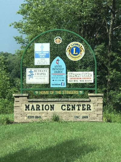 Marion Center sign