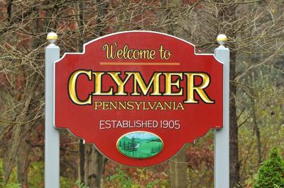 clymer welcome sign