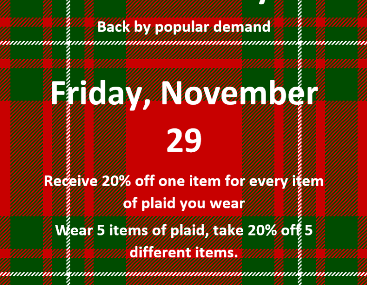 Pageturners.Plaid Friday
