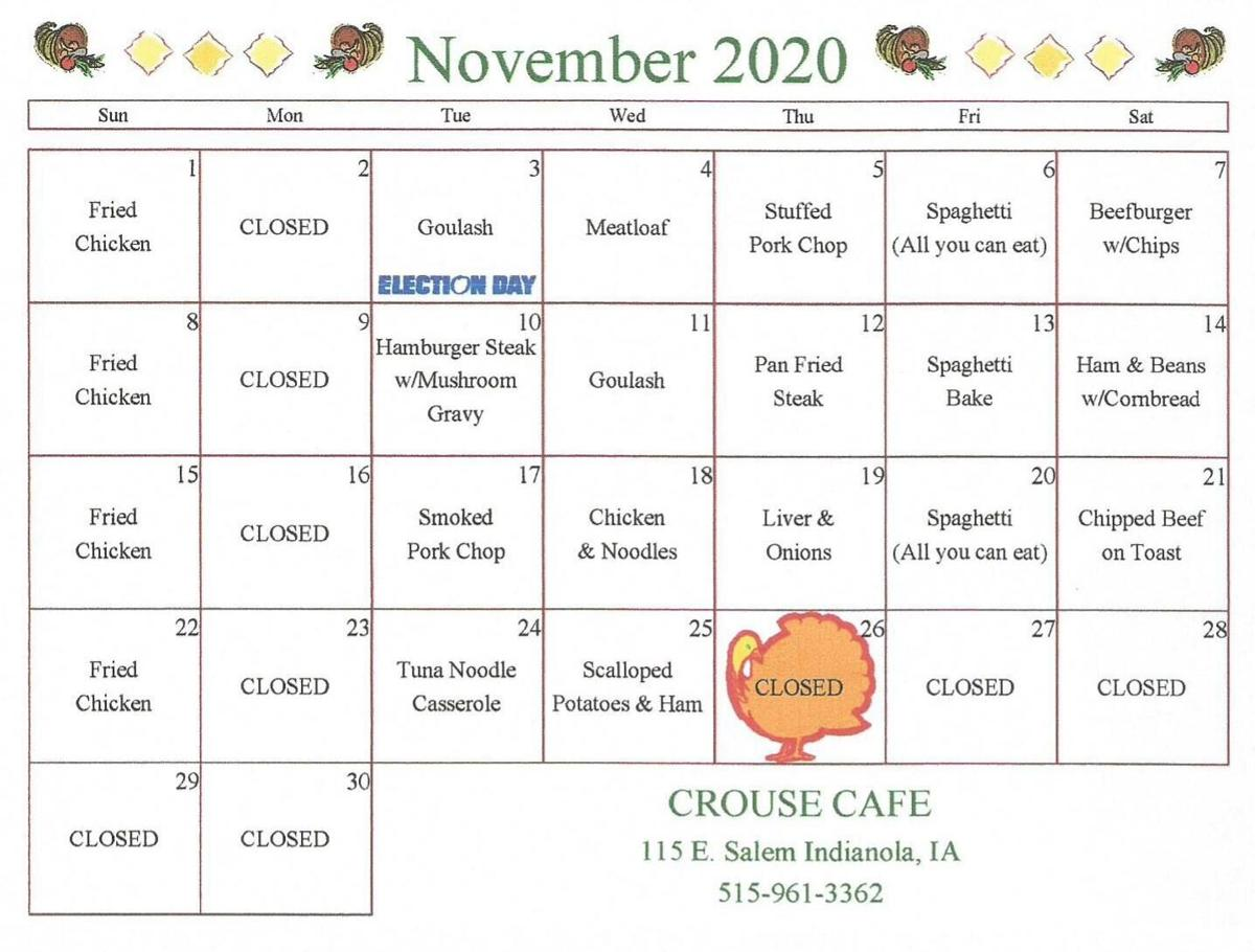 Crouse.November menu