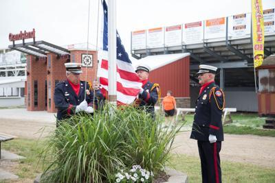 Flag raising at the fair
