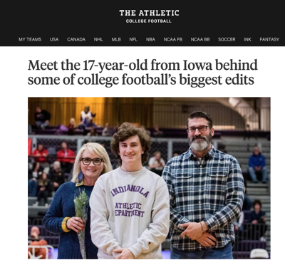 Indianola student featured in national sports magazine