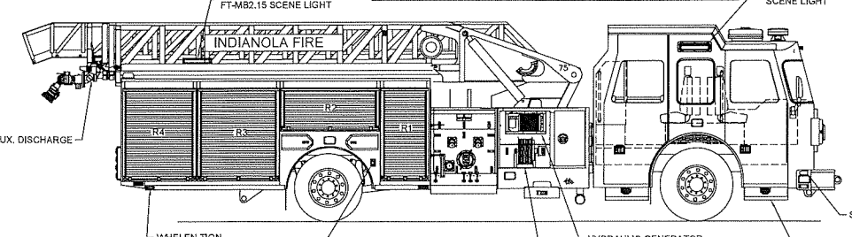 Indianola aerial truck drawing