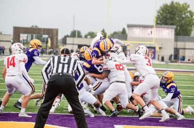 Going for the end zone