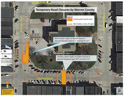 Indianola street closures planned