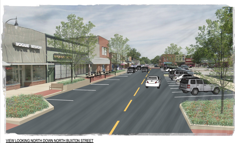 A snapshot of Indianola Streetscape plan