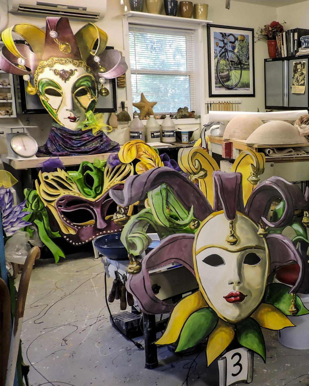 Bob - masks - more masks in studio.JPG
