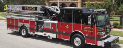 Sample aerial fire truck
