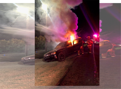 Shelton Gibbs car fire