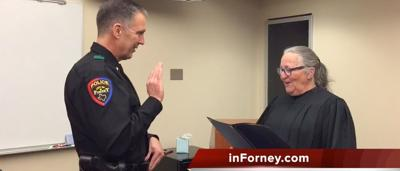 Video: Sherwin sworn in as Forney's new Chief of Police